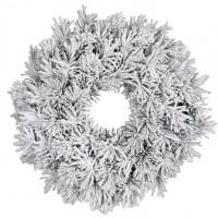 Венок ø 0,60 см. декоративный Dinsmore Frosted зеленый со снегом