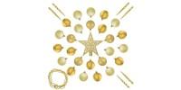 """Елочные шарики 33 шт., """"House of Seasons"""" набор, оттенки золотого"""