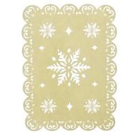 Декоративная подставка под елку со снежинками, 45*30 см.