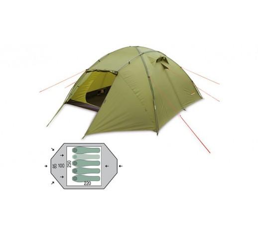 Палатка четырехместная Pinguin Tornado 4 Green