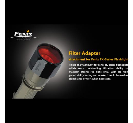 Фильтр красный для Fenix TK
