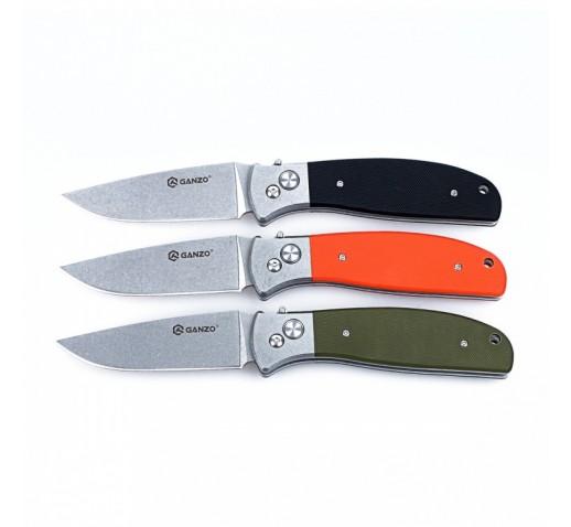 Нож Ganzo G7482 (черный, оранжевый, зеленый)
