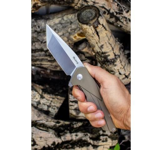 Нож Ruike P138 (черный, бежевый)
