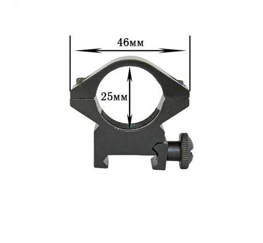 Крепление на оружие для фонаря 25 DK (планка Вивера 19 мм)