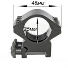 Крепление на оружие для фонаря 25 Ring Double (планка Вивера 19 мм)