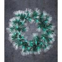 Венок ø 50 см Искусственный оптического волокна с мульт. лам Highland, зеленый,