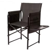 Кресло складное туристическое Vitan Режиссер (840х730х530мм), серое, полка