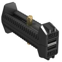 2 в 1 - Зарядное устройство + Power Bank Nitecore F2 (4.2V/5V, 2х1000mA, USB)