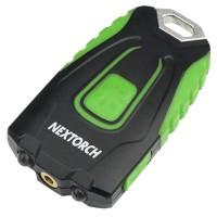 2 в 1 - Фонарь + лазер Nextorch GL20 (2xLED, 60 люмен, 4 режима, USB), черный/зеленый
