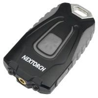2 в 1 - Фонарь + лазер Nextorch GL20 (2xLED, 60 люмен, 4 режима, USB), черный/серый